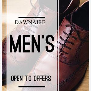 Men's clothes!